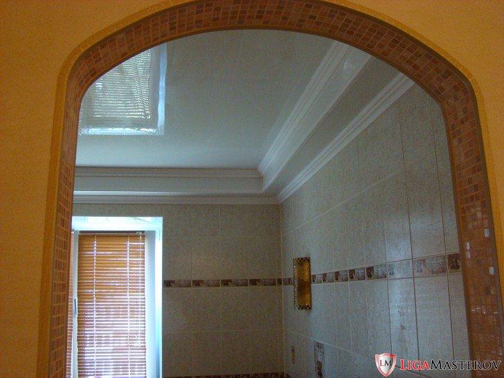Отделка арки мозаикой фото