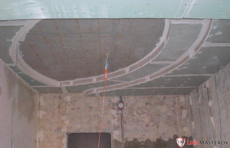 Двух уровненные потолки из гипсокартона своими руками