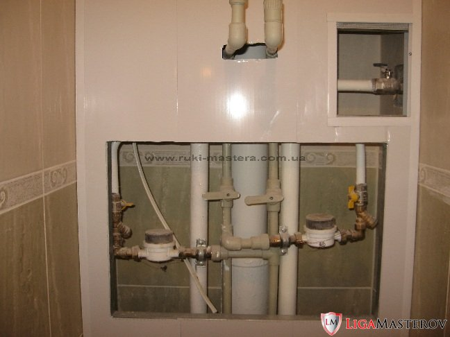 прокладка водопровода.