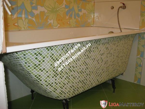 Декорируем ножки ванны своими руками