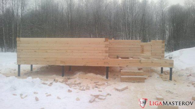Дом без опыта строительства из бревен